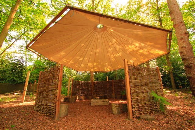 Outdoor canopy classroom
