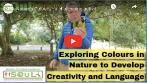 Nature's Colours – a challenging artistic activity that will connect young learners to the natural world, spark their curiosity and build observation skills.