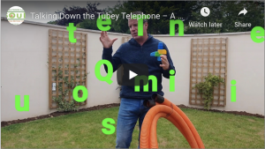 Talking Down the Tubey Telephone – A great fun activity to enable children to learn about talking, listening, questioning and following instructions.