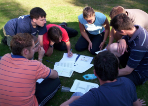 High School Students Outdoor Learning