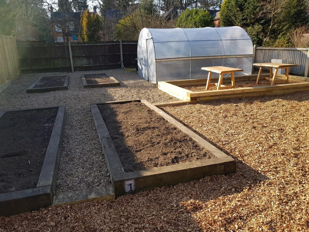 Polytunnel and Raised Beds Built By SOuL